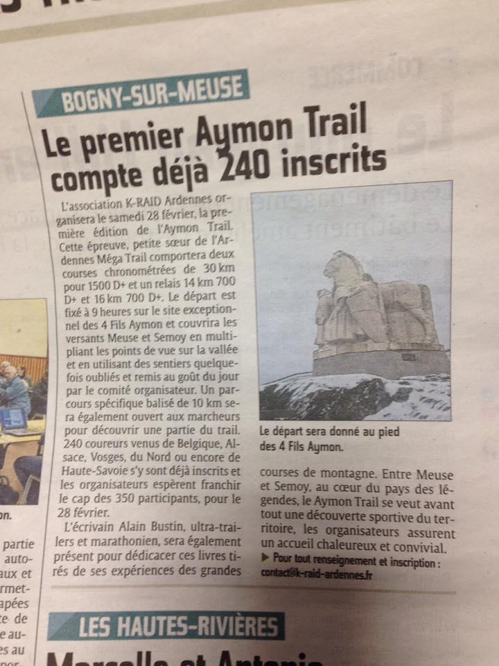 Presse Trail Aymon Ardennes Bogny